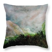 The Valley 1 Throw Pillow