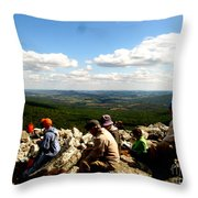 The Valley Down Below Throw Pillow