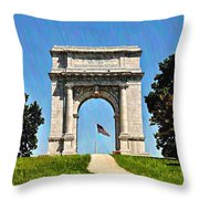The Valley Forge Arch Throw Pillow
