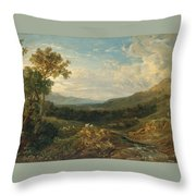 The Valley Of The Clyde Throw Pillow