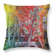 The Valley Of The Cotton Tree Throw Pillow