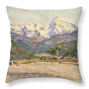 The Valley Of The Nervia, 1884  Throw Pillow