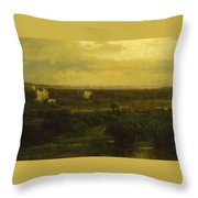 The Valley Of The Olives Throw Pillow