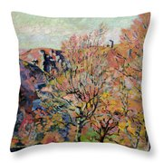 The Valley Of The Sedelle In Crozant Throw Pillow