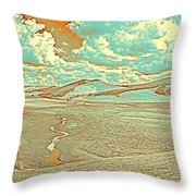 The Valley Of Winding Snake River Throw Pillow