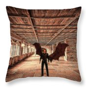 The Vampire Abode Throw Pillow