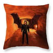 The Vampire Throw Pillow