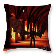 The Vampire Stalks Throw Pillow