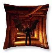The Vampire Tunnel Throw Pillow