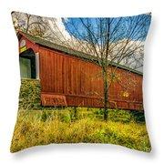 The Van Sant Covered Bridge Throw Pillow