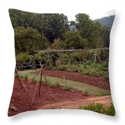 The Vegetable Garden At Monticello II Throw Pillow
