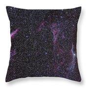 The Veil Nebula Throw Pillow