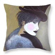 The Velvet Hat Throw Pillow