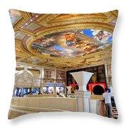 The Venetian Hotel Lobby Throw Pillow