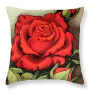 The Very Red Rose Throw Pillow