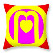 The Very Secret Sacred Heart Of Om Throw Pillow by Eikoni Images