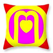 The Very Secret Sacred Heart Of Om Throw Pillow