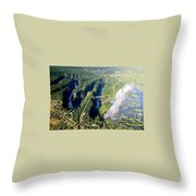 The Vic Falls Gorge Throw Pillow