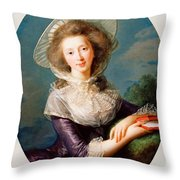 The Vicomtesse De Vaudreuil Throw Pillow