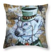 the Victoria gazette Throw Pillow