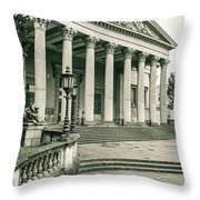 The Victoria Rooms With Lamp Post, Bristol Throw Pillow