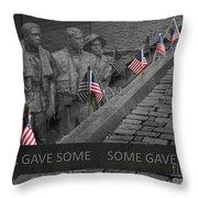 The Vietnam War Memorial Throw Pillow