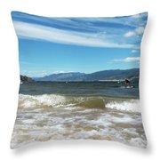The View From Okanagan Beach Throw Pillow