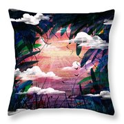 The View From Up Here Throw Pillow