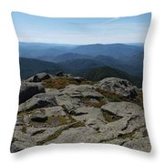 The View North From Mt. Marcy Throw Pillow
