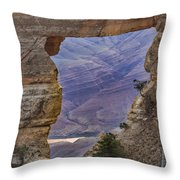 The  View Through The Angels'  Window Throw Pillow
