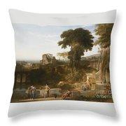 The Villa Fountain Throw Pillow