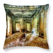 The Villa Of The Boat In The Antique Salon - La Villa Della Barca Nell'antico Salone Throw Pillow