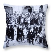 The Village Band Throw Pillow