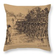 The Village Ford Throw Pillow