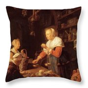 The Village Grocer 1647 Throw Pillow
