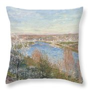 The Village In Champagne Throw Pillow