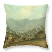 The Village Of Betania With A View Of The Dead Sea Throw Pillow