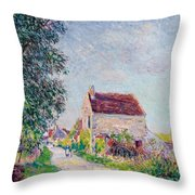 The Village Of Sablons Throw Pillow