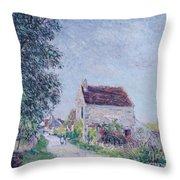 The Village Of Sablons Throw Pillow
