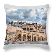 The Village Of St. Francis Of Assisi Throw Pillow