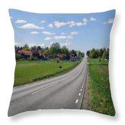 The Village Of Stjarna Throw Pillow