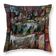 The Village On A Hill Throw Pillow