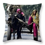The Village Women  Throw Pillow