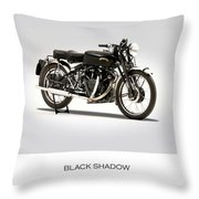 The Vincent Black Shadow Throw Pillow