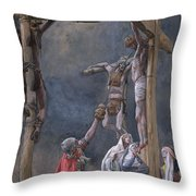 The Vinegar Given To Jesus Throw Pillow