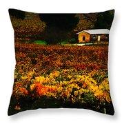 The Vines During Autumn Throw Pillow