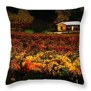 The Vines During Autumn Throw Pillow