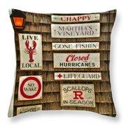 The Vineyard Throw Pillow by Joann Vitali