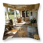 The Vineyards Throw Pillow