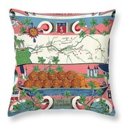 The Vineyards Of France Throw Pillow